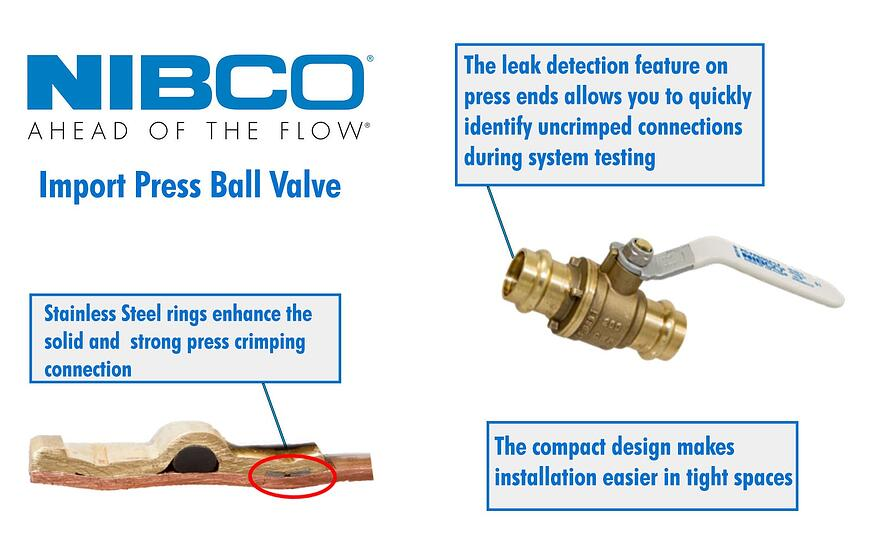 The NIBCO® Import Press Ball Valve Makes Installation Easier on